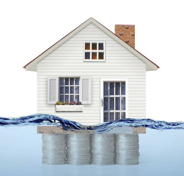 homes underwater mortgage