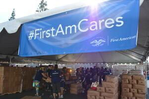 FirstAmCares Banner with sun